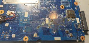 Работа по ремонту ноутбука Lenovo после залития